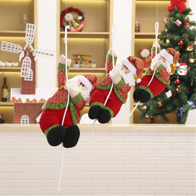 Christmas Home Tree Decorations shopping malls Santa Claus Smowman New Year Hanging Pendant Xmas Decoration ornamentsSupplies in Pendant Drop Ornaments from Home Garden