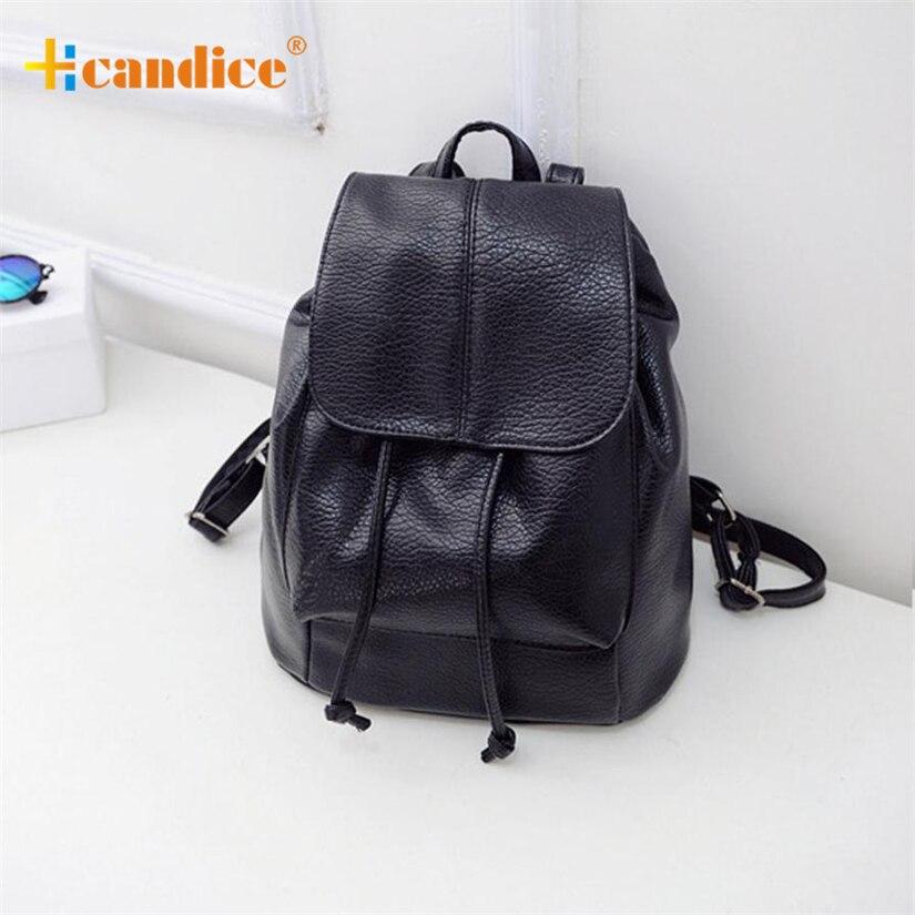 Best Gift Hcandice New Fashion Women Leather Satchel Shoulder Backpack School Rucksack Bags Travel drop ship