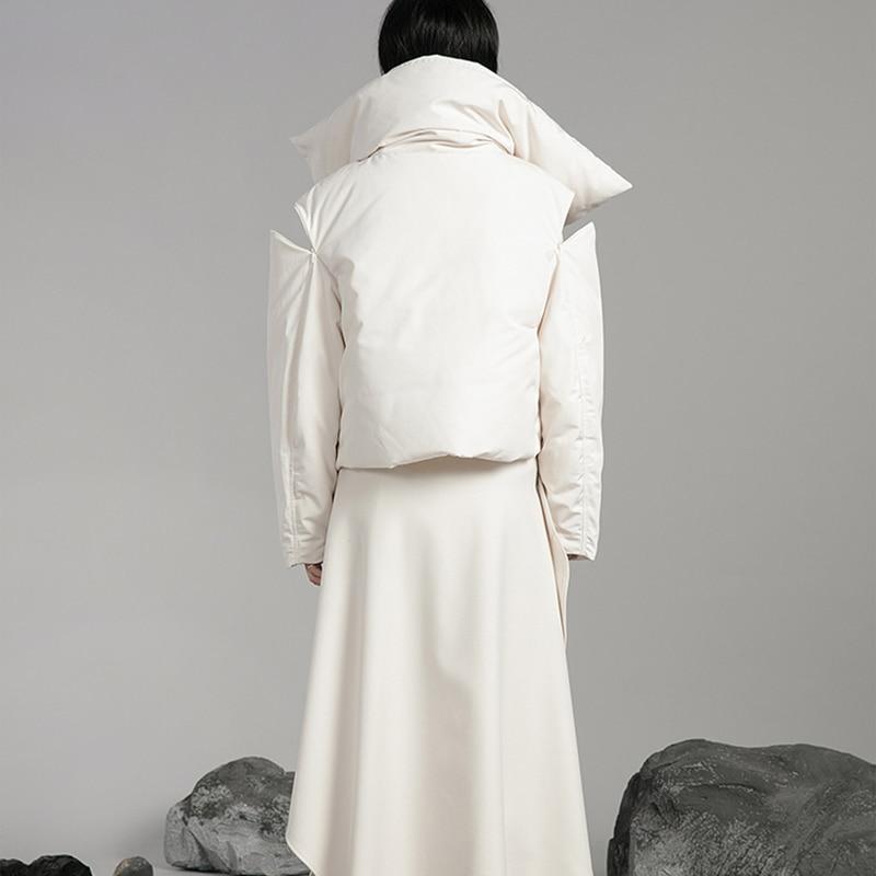 Bouton Solide De Blanc Corée Vers xitao Le Asymétrique Manteau Femmes Canard Mode Couleur Plein Beige Dowm Hiver Lyh1946 2018 Manches Bas Unique q6g6nxYO