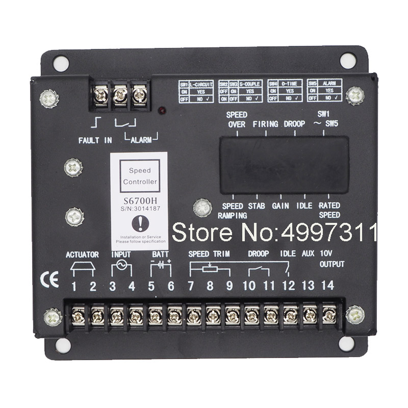 Chinese own Factory production S6700H Best Quality Genset Spare Part Electronic Speed Controller Board S6700H/Speed governor  - buy with discount