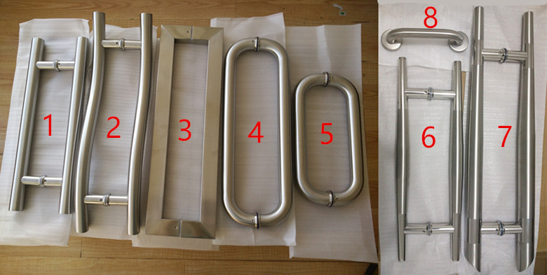 variety size door handle <font><b>SUS</b></font> <font><b>304</b></font> Stainless Steel Brushed Door Handle Pull image
