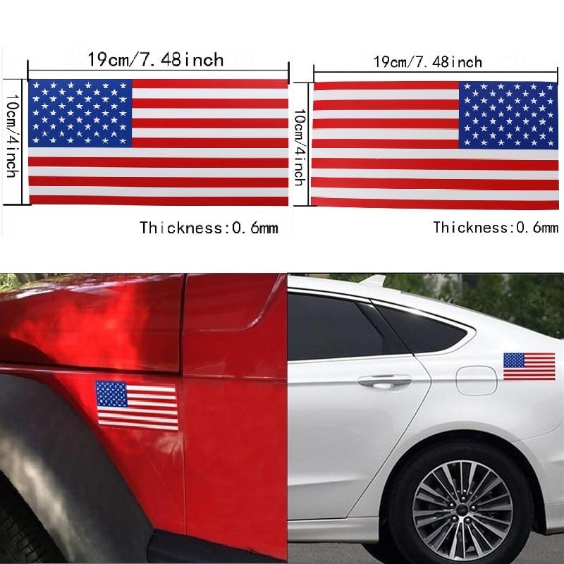 American Flag Car Decal Bumper Sticker Us Flag Striped Car