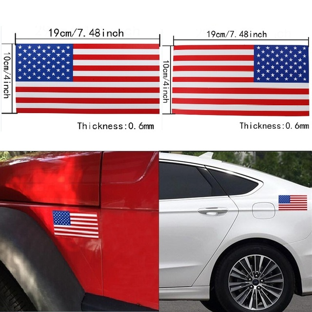 American flag car sticker kamos sticker for Proper placement of american flag