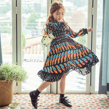2017 New Kids Girls Gentle Chiffon Princess Dress Bohemian Summer Baby Dress For Spring And Autumn