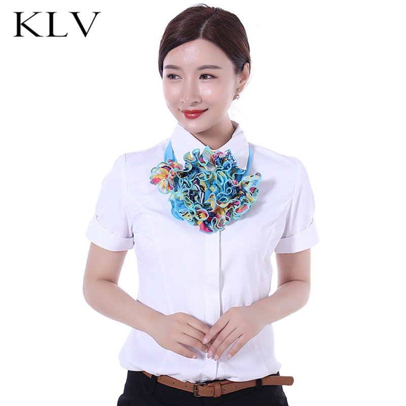 Womens Floral Collar Scarf Luxury Flower Printed Neckerchief Ring Neck Scarves