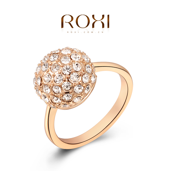 ROXI Delicate rose gold ring platinum plated with Crystal,100% pure ...