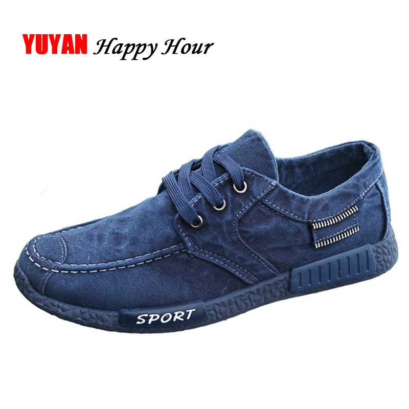 New 2018 Spring Autumn Shoes Men Canvas Shoes Denim Design Fashion Men's Casual Shoes Male Brand Footwear Breathable Blue K071 plus size 42 men denim jeans new 2017 autumn brand afs jeep loose free type breathable male casual clothing pantacourt homme