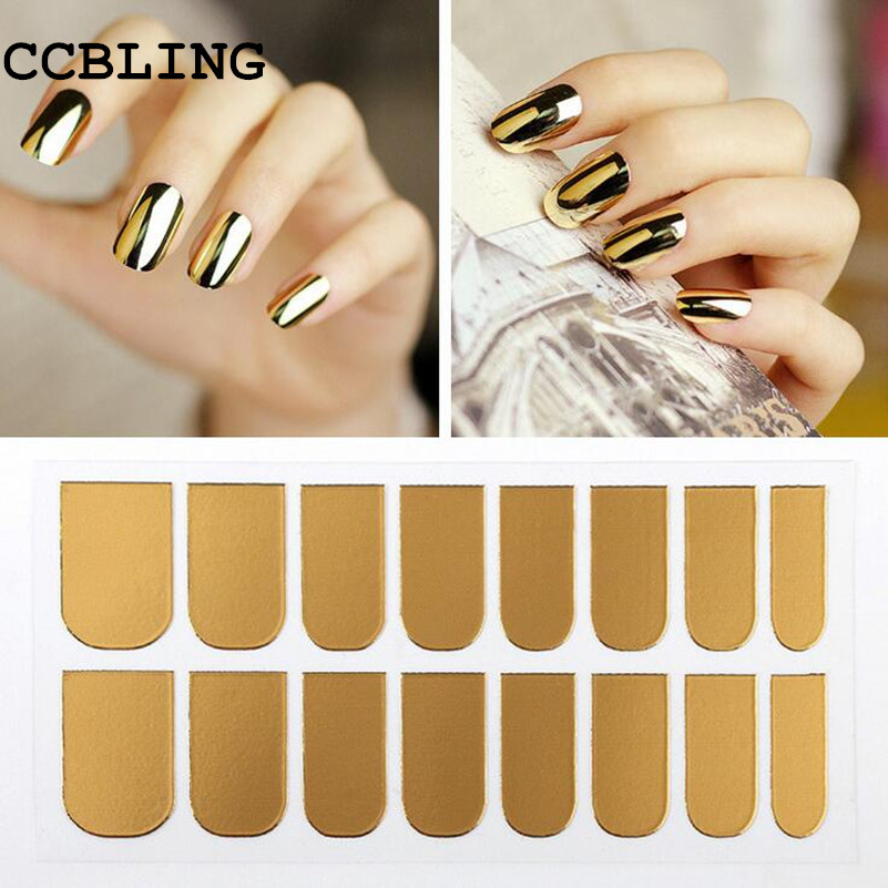 1pcs New Arrival Nail Art Stickers Gold Silver Black Full Cover Nail Foil Patch Wraps,Adhesive DIY Nail Decoration Tools hot 45designs smooth nail patch 100sheets lot adhesive full cover nail art beauty sticker foils wraps decals diy nail decoration