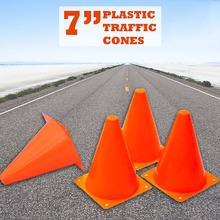 12Pcs 18cm Dazzling Toys Traffic Orange Cones Marker Course Football Riding Excercise Supplies ED-shipping