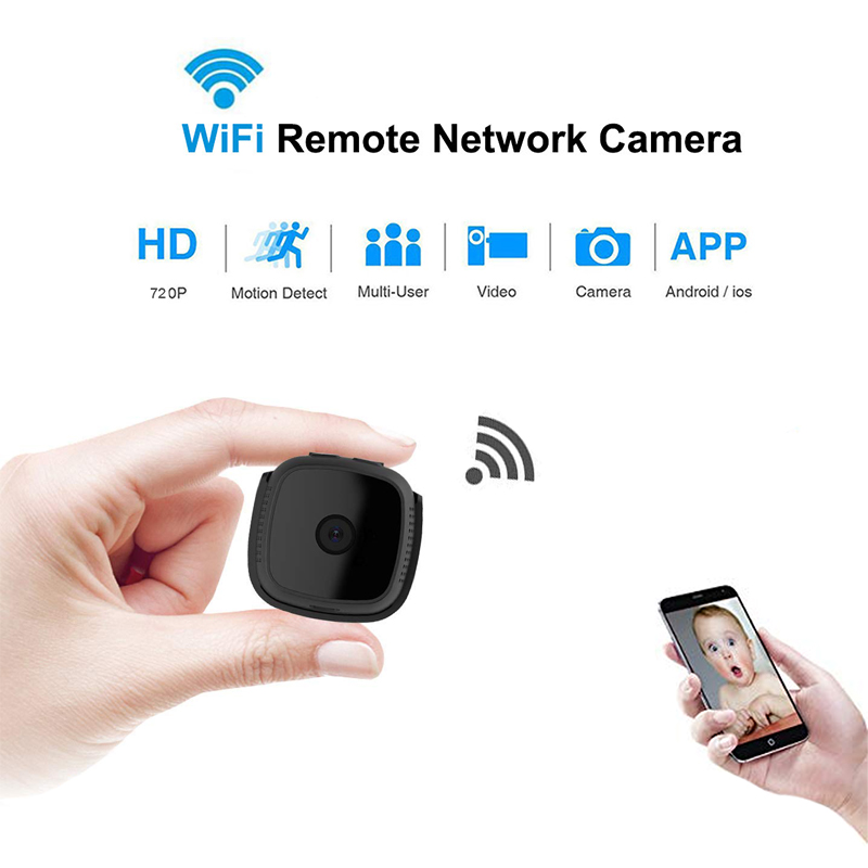 CCTV Mini Camera Wifi IP with Motion Sensor 720P Mini Camera Wifi HD Night Vision for iphone Android Video HOME Security Camera image