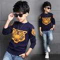 2016 Nueva Primavera Otoño Niños Niños Suéter Tiger Pullover Suéteres de las Muchachas de Punto Chicos Chaqueta de Punto Invierno de Los Niños Ropa