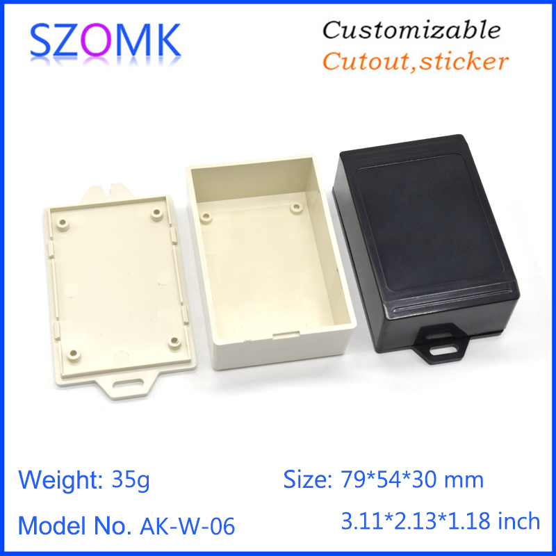 szomk wall mounted plastic enclosure for electronics project instrument plastic housing junction box abs plastic casing (10)