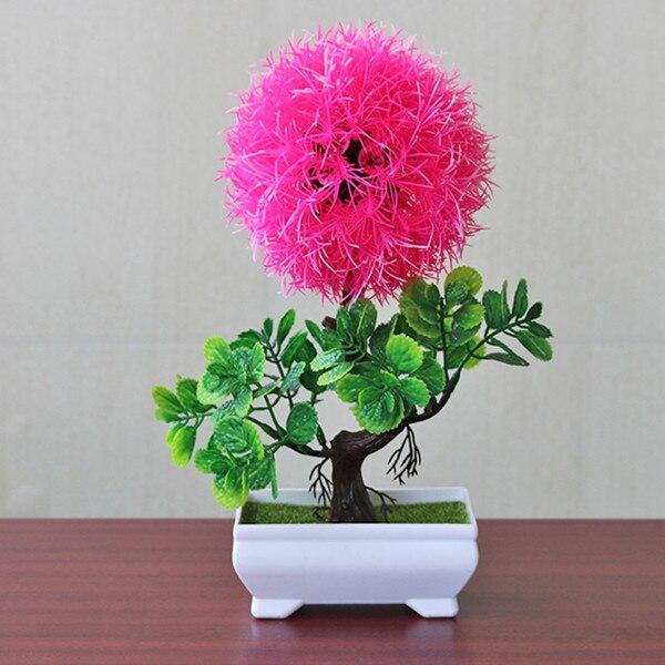 Имитация горшков растения искусственные цветы растение садовое украшение легкий Snapdragon мяч Мода - Цвет: pink