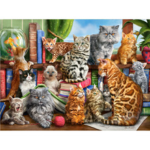 DIY diamond painting cats group Kitten decor full dimaond embroidery kingdom kitten Triple mosaic