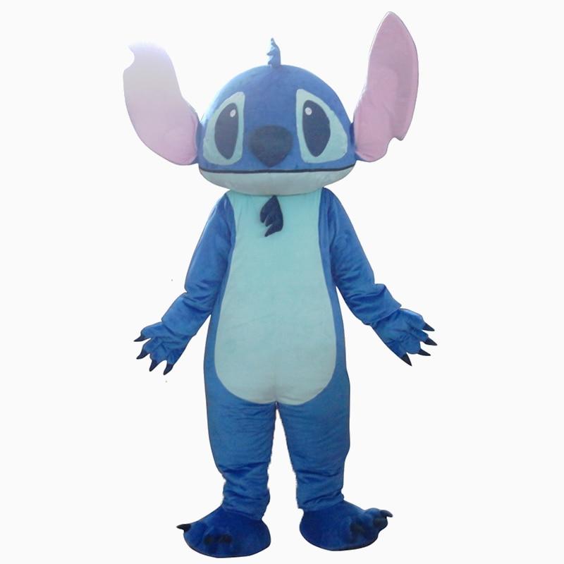 Custom Made animale della mascotte Lilo Stitch Costume Della Mascotte Stitch Costume Della Mascotte Lilo Stitch Cosplay Costume per adulti