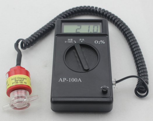 Portable Oxygen Measuring Instrument Oxygen Concentration Tester 0-100% AP-100A at11 breath alcohol tester portable measuring instrument wine black