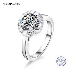 цена на Shipei Round Moissanite Ruby Ring for Women Genuine 100% Sterling Silver Pink Sapphire Gemstone Engagement Ring Anniversary Gift