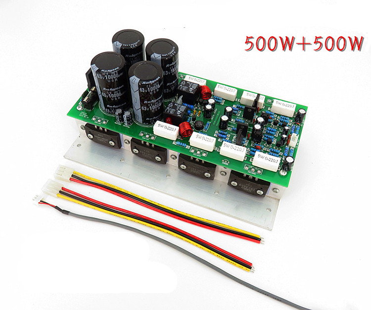 finished 2sa1494 2sc3858 dual channel high power amplifier board 500W 2.0 AC Dual 24-32V Dual Channel 2SA1494+2SC3858 Power Amplifier Rear High Power Amplifier Board
