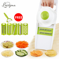 Multifunctional Stainless Stee Qiecai 5 Sets Shredder Slicers Into Strips Device Grater Cut Potatoes Carrot Cucumber