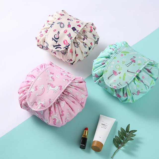 ed5b059c2f52 New Color printing design Cosmetic Bag Drawstring Makeup Case Women Travel  Make Up Organizer Storage Pouch