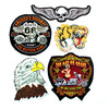 Iron On Embroidered Patch Big Eagle Tiger Patches Clothing Accessories Logo DIY Modify Ride Bicycle Jacket