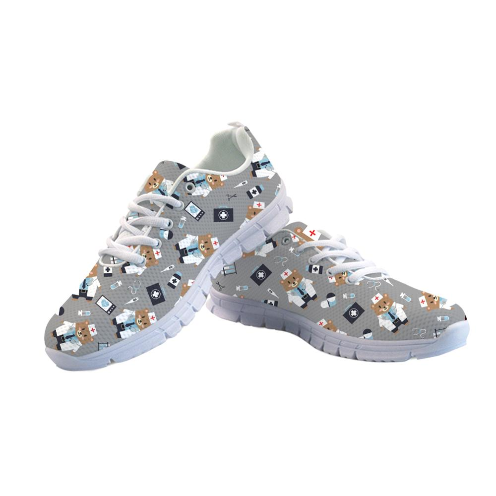 e1b688f494ed Detail Feedback Questions about ELVISWORDS Cartoon Nursing Shoes Women  Sneakers Girls Tenis Feminino Female Casual Shoes Sneakers Fashion Flats  Vulcanized ...