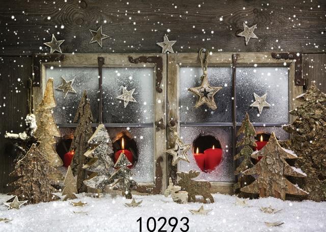 Christmas Decor Windows Snowy 7X5ft Photography Backdrops