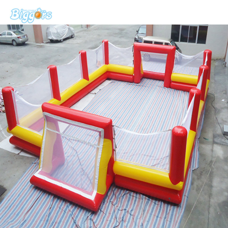 PVC Material inflatable football field football stadium inflatable soccer stadium for adults Game kids play game inflatable football pitch inflatable soccer field for sale