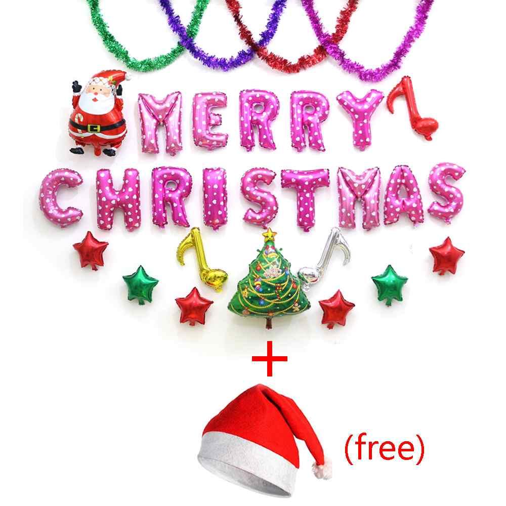carta foil globos de ltex globo feliz navidad feliz ao nuevo fiesta de navidad decoracin
