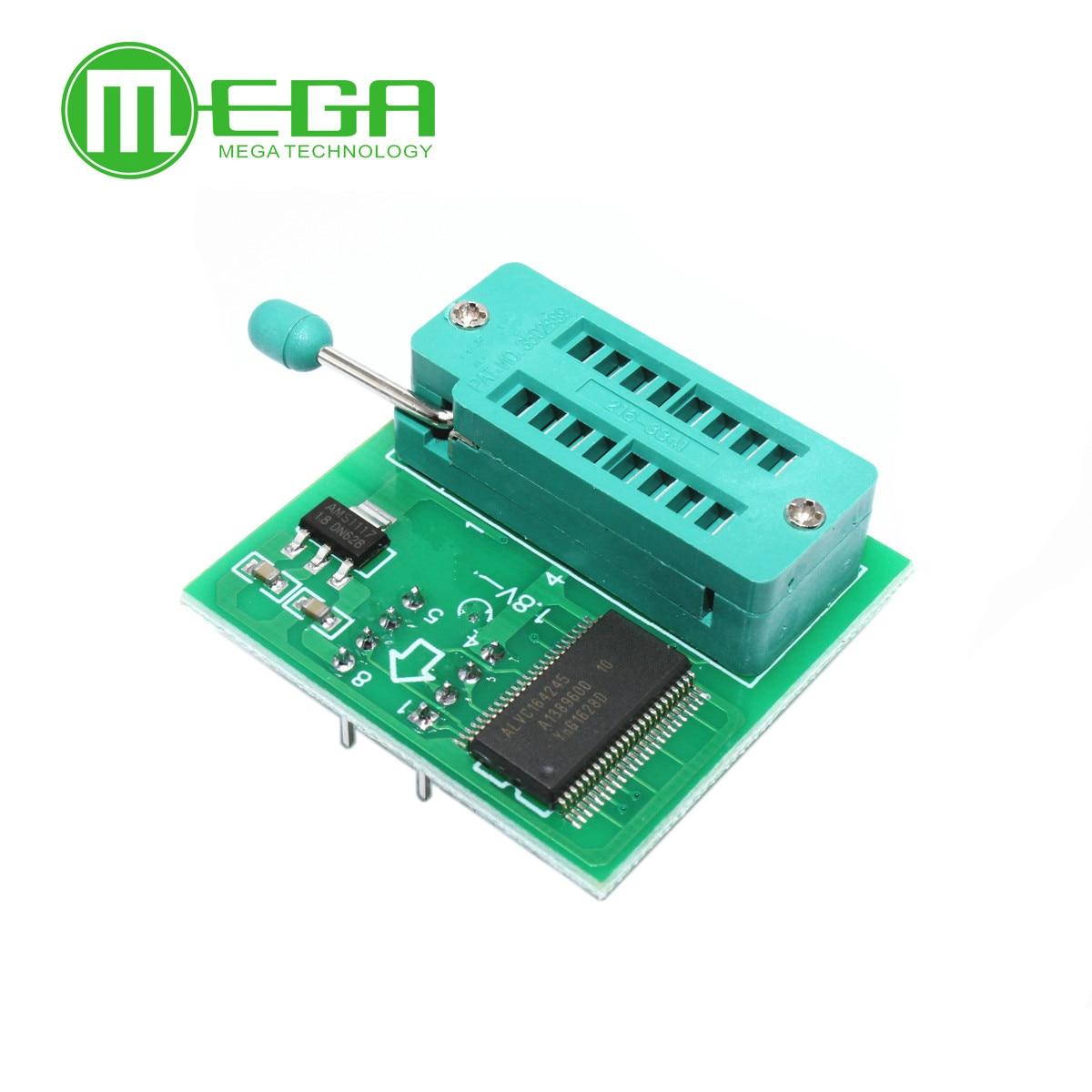 1.8V adaptateur pour carte mère 1.8V SPI Flash SOP8 DIP8 W25 MX25 l'utilisation aux programmeurs TL866CS TL866A EZP2010 EZP2013 CH341 pour Bricolage