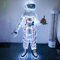 Бесплатная доставка Рождественский карнавальный светодио дный Хэллоуин светодиодное освещение космический костюм для вечерние маскарада
