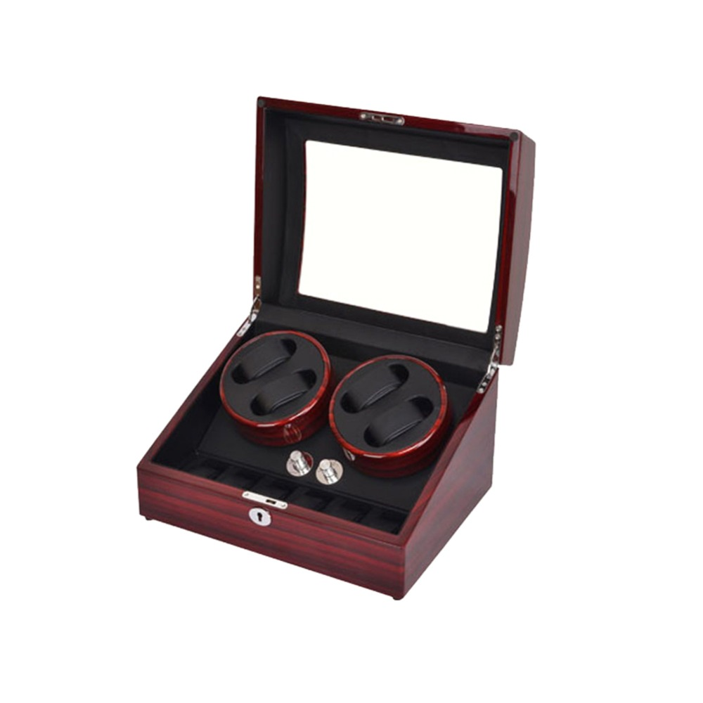 Watch Winder, LT Wooden Automatic Rotation 4 + 6 Watch Winder Storage - Tilbehør klokker - Bilde 3