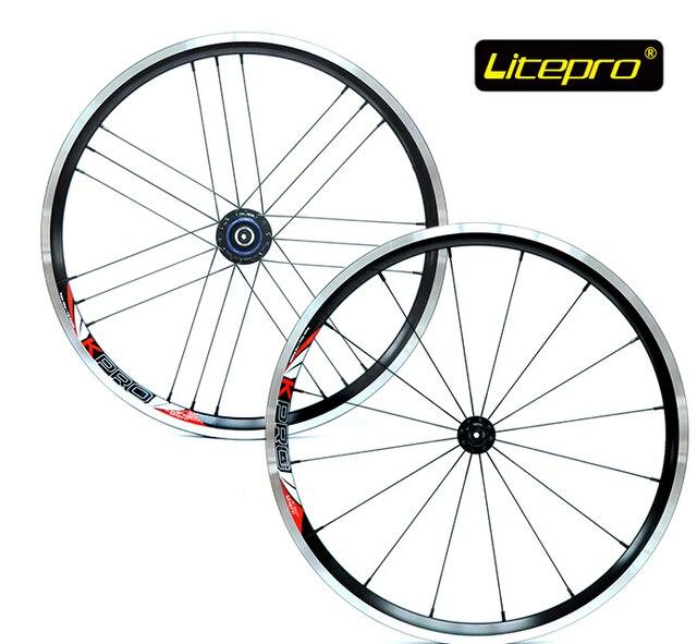 Litepro ultra 960グラム16/21 h 20インチ406ホイールセット折りたたみバイクvブレーキホイールセットbmx車輪bmxパーツ