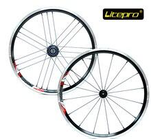 Litepro ultraligero 960g 16/21 h 20 pulgadas 406 juego de ruedas de bicicleta plegable V freno wheelset ruedas bmx bmx partes