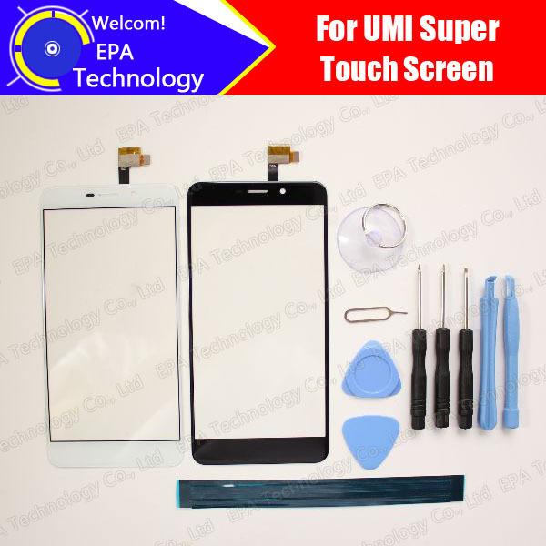 UMI Súper Pantalla Táctil Digitalizador 100% de Garantía Original Del Panel Táctil de Cristal Digitalizador de Pantalla Para Super + herramientas + Adhesivo