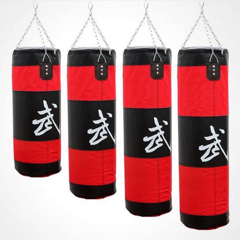 73dcb989c Altura 70 cm 100 cm Karate MMA Muay Thai Boxe Saco De Areia Equipamento de  Treinamento de Artes Marciais Sanda luta Saco De Pancadas saco de areia