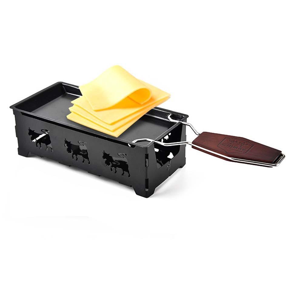 Mini strumenti piastra di cottura del Formaggio Formaggio manico In Legno Massello vassoio Casa forno a microonde uso forno Antiaderente Formaggio pan piatto