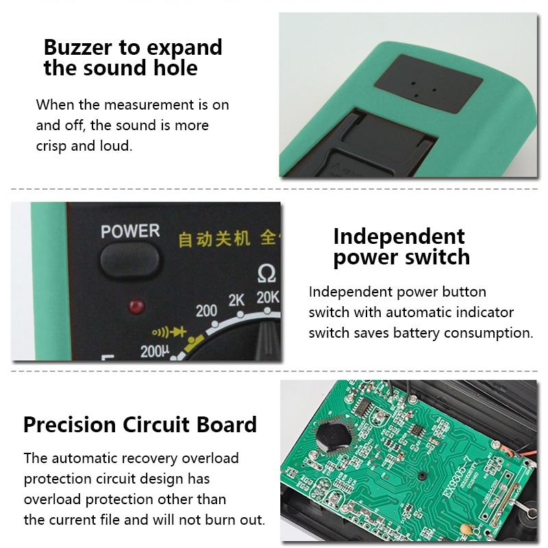 Handskit Multimeter AC DC Digital Multimeter Professional Tester Meter Voltmeter Digital LCD Display 2000 counts Meter Tester