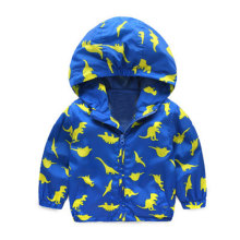 Acitonclub 2017 Baby Boys Jackets Children Hooded Dinosaur Printed Boys Outerwear 2-6T Kids Windbreaker Spring Autumn Clothes