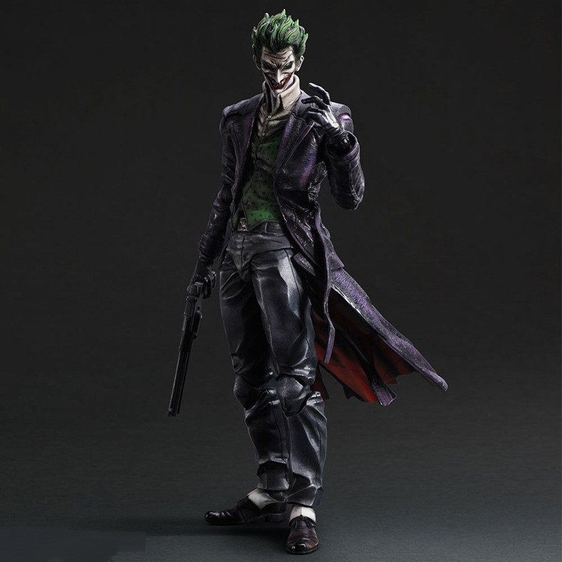 28cm Suicide Squad Joker batman Justice league Movable PVC Action Figure Can Change Face Collectors Model Toys-in Action & Toy Figures from Toys & Hobbies    1