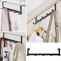 Over-The-Door Hook Rack Metal Hanger Storage Holder Hanging Coat Hat Towel Bag