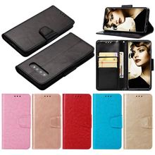 цена на Single Color Leather Case For apple iPhone 8 7 6 6S Plus 5 5S SE 5C X XR Xs Max PU Leather Wiht Soft Silicone Holder Cover DP03Z