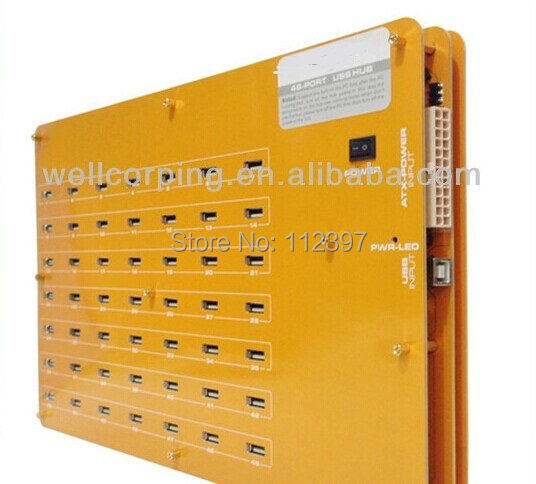 New USB 2.0 High Speed 49-Port USB HUB For asic miner Red Yellow Available USB HUB