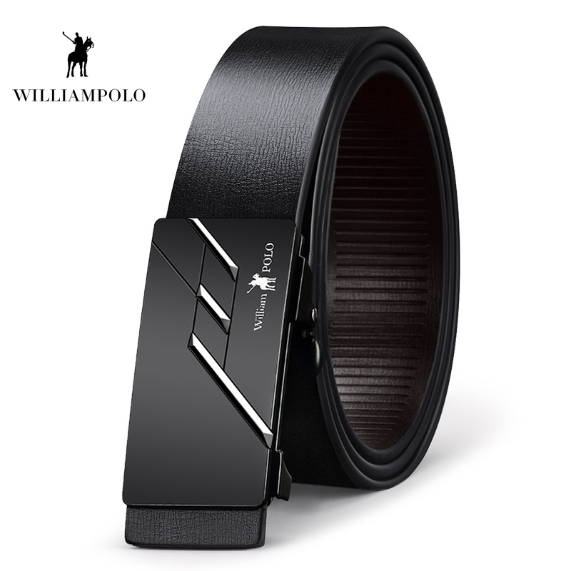 Williampolo 2019 Genuine Leather Fashion Belt Brand New Buckle Design Waist Black 35MM Cowhide Leather Belt PL18287 88P in Men 39 s Belts from Apparel Accessories
