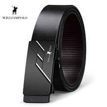 Williampolo 2019 Genuine Leather Fashion Belt Brand New Buckle Design Waist Black 35MM Cowhide PL18287-88P