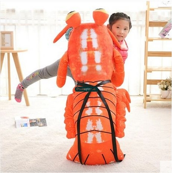 Dorimytrader Pop Simulation Animal Mantis Shrimp Plush Pillow Big Animal Shrimp Toy Doll for Kids Gift Decoration 47inch 120cm