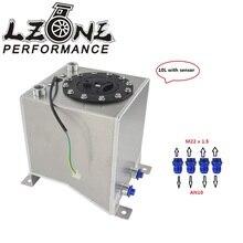 Lzone-температура 10L Алюминий всплеск топливный бак, зеркальный блеск топливных элементов с пеной внутри/датчик JR-TK38S
