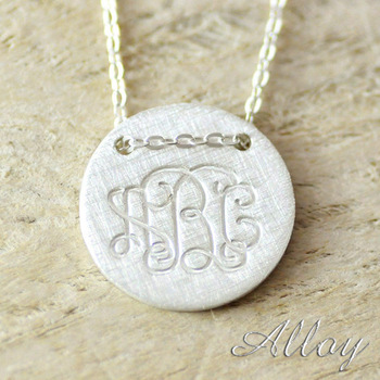 Personalized Alloy monogram Name Necklace,Vintage necklace Mother gift Hallowmas Engagement