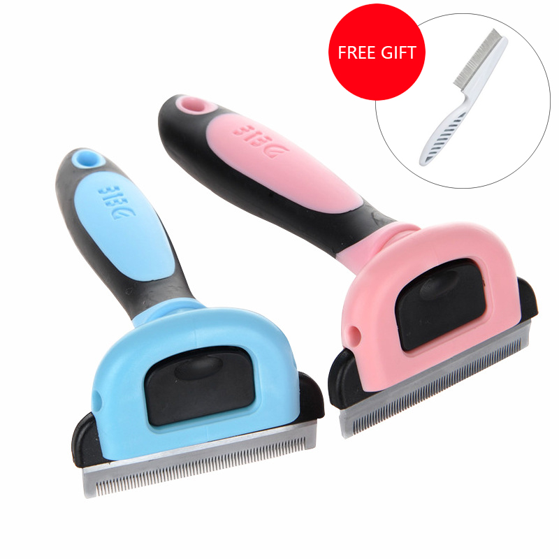 2018 New Pet Dog Cat Brush Comb For Dogs Cats Grooming Hair Removal Tools Furmins Hair Deshedding Trimmer