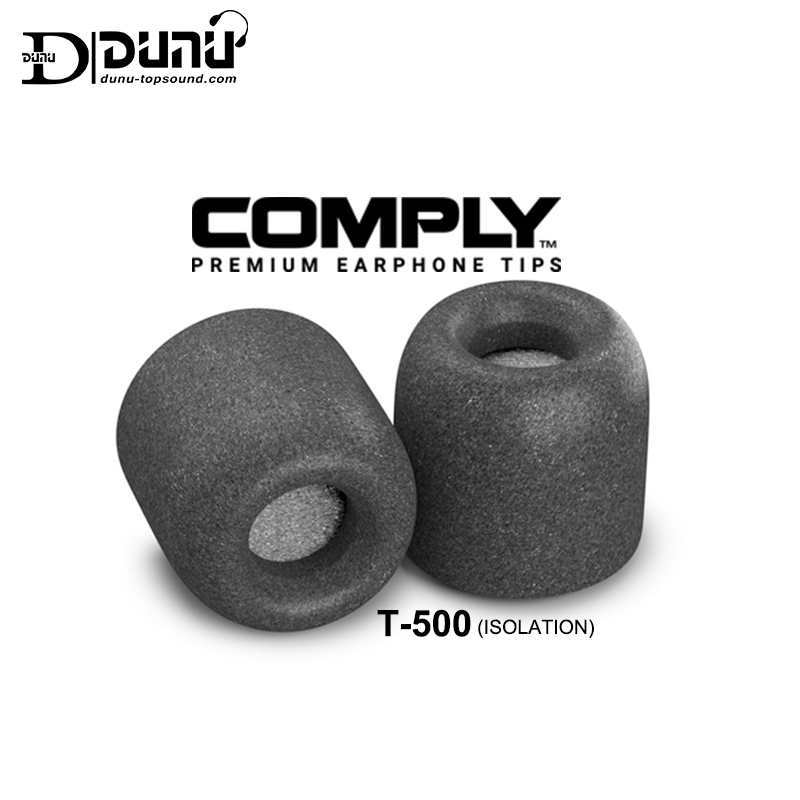 DUNU COMPLY Isolation T-500 (S/M/L) Super Soft Memory Foam Premium Earphone Tips title=